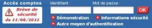 Accès aux comptes Crédit Mutuelle Anjou