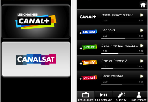 L'application Canal