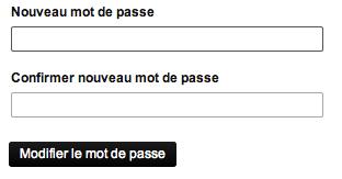 Modification de votre mot de passe Canal