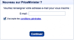 Entrer votre adresse mail