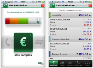 Les applications BNP