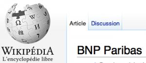 BNP sur Wikipédia