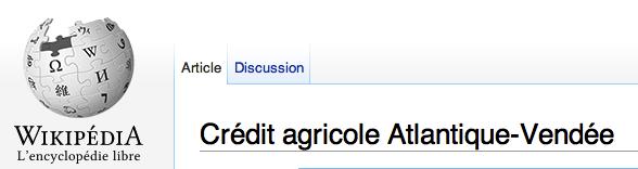 Votre banque sur Wikipédia