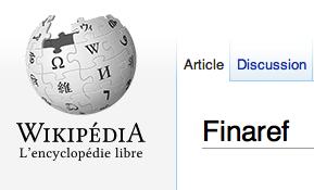 Finaref sur Wikipédia