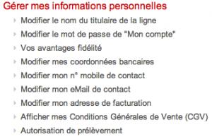 Gérer vos informations personnelles