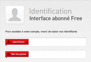 Identifier vous en entrant votre identifiant et votre mot de passe