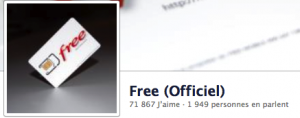 Free sur Facebook