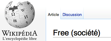 Free sur Wikipédia