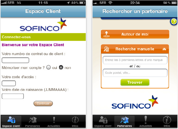 Application Sofinco