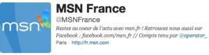 MSN sur Twitter