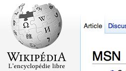 MSN sur Wikipédia