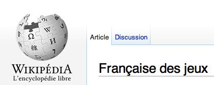 FDJ sur Wikipédia
