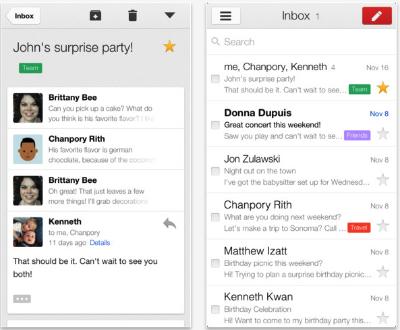 Gmail, l'application