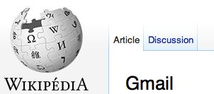 Gmail sur Wikipedia