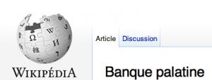 Banque Palatine sur Wikipédia