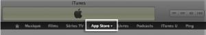 Onglet App Store
