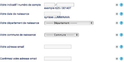 Formulaire pour l'envoi d'un nouveau mot de passe