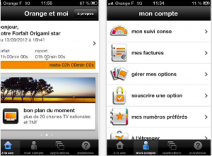 L'application Orange