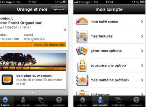 L'application Orange