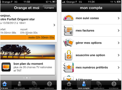 mon compte orange mobile sur mobile. Black Bedroom Furniture Sets. Home Design Ideas