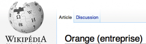 Orange sur Wikipédia