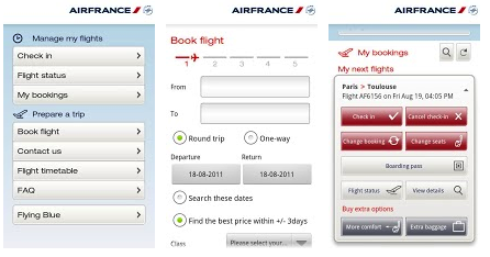 Air France application