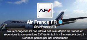 Air France sur les réseaux sociaux
