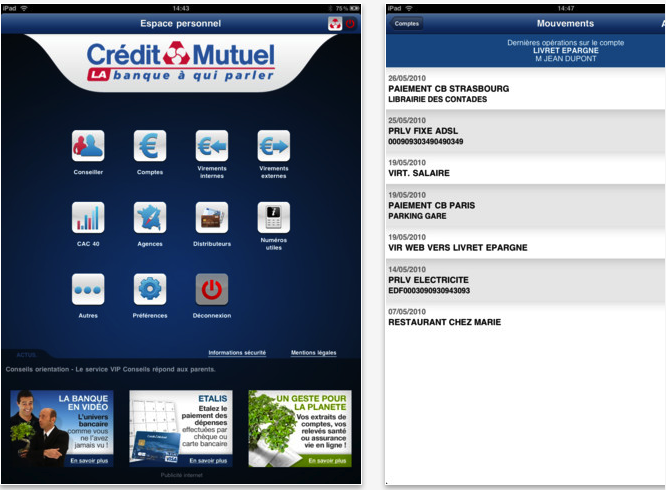 Application Crédit Mutuel