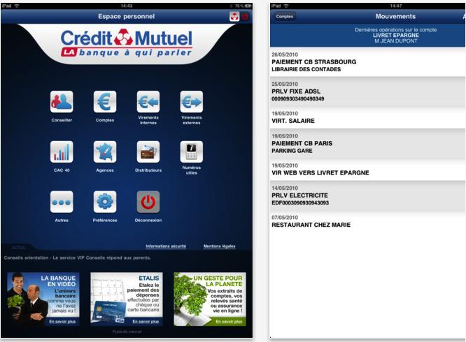 Application Crédit Mutuel
