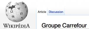 Carrefour sur Wikipédia