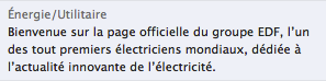 EDF sur Facebook