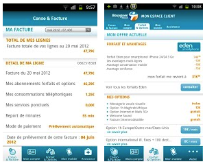 Les applications Bouygues Telecom