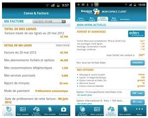 Les applications Bouygues Telecom