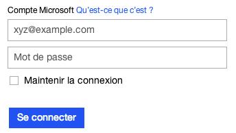 Connectez vous à votre compte Hotmail