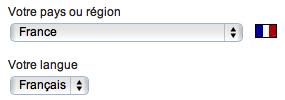 Choisissez votre pays et votre langue