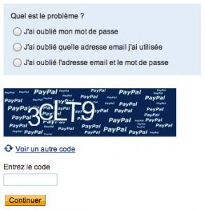 Perte ou oubli de votre mot de passe ou adresse mail avec Paypal