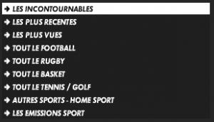 Les sous-catégories du Player Canal +