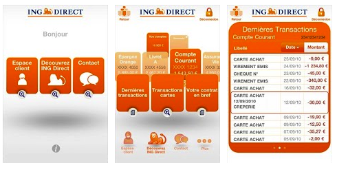 Les applications ING Direct