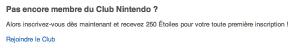 Rejoindre le Club Nintendo
