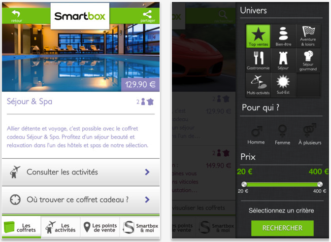 L'application Smartbox