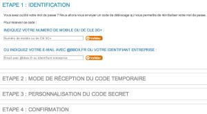 Entrez votre adresse mail bbox.fr pour recevoir votre code temporaire et personnalisez ensuite.