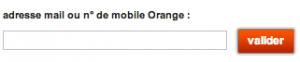 Entrez votre numéro de mobile Orange pour recevoir votre mot de passe
