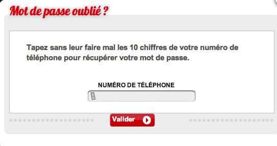 Entrez votre numéro de téléphone pour recevoir votre mot de passe