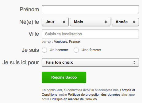 Inscription site de rencontre badoo