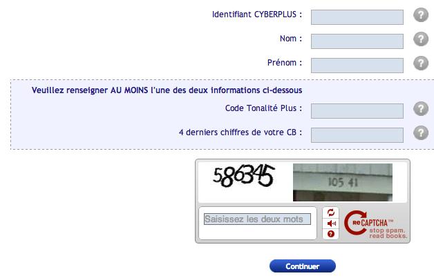 Réinitialisation de votre mot de passe CyberPlus