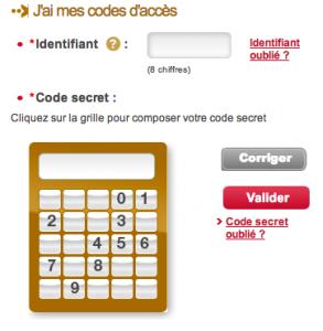 Connexion à votre compte FIDEM : entrez votre identifiant et votre code d'accès.