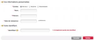 Réinitialiser votre code d'accès FIDEM