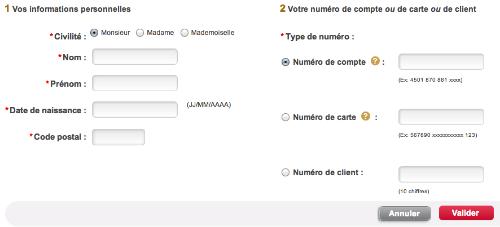Remplissez les formulaires avec vos informations pour obtenir vos codes d'accès FIDEM