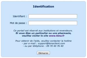 TENA Client - Identifiez vous