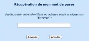 TENA Client - Réinitialiser votre mot de passe